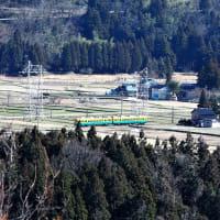 鍬崎山の左から大日岳までの連なる峰々を眺めます(5)・・・富山市(旧大山町)新町・常願寺川西岸の高い崖上