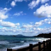 師走の海風景