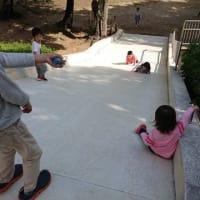 孫たちと海遊館・リス公園へ