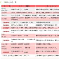 鹿児島カレンダー 「3月の祭り・イベント」薩摩のひなまつり:3/1 鹿児島マラソン中止,