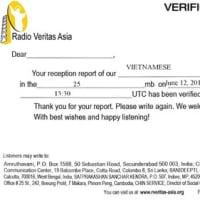 Radio Veritas Asia QSL/2018/11/12