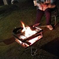 今シーズン初の焚火キャンプ