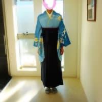 小学校の卒業おめでとうございます💛爽やかな着物と袴コーデがすてきです(^^♪