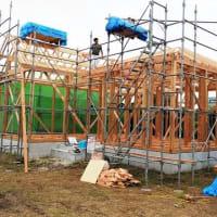 Newプロジェクト!!『 岬町長者 Wさんのやさしかわいいお家 』⌂Made in 外房の家。は昨日、上棟無事完了しました!!