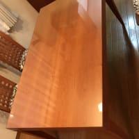 テーブルガラスの新規設置