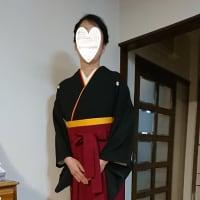 R2.2.22出張着付は南河内郡太子町、卒業式の女袴の着付&ヘアセットのご依頼でした。