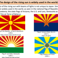 The design of the rising sun is widely used in the world.