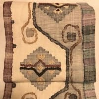 懐かしい思い出、がんばった結び糸で織ってもらった渡文さんの帯