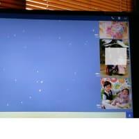 LINEの画面に桜吹雪