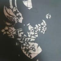 切り絵制作過程~森のプリンセス♪ その3