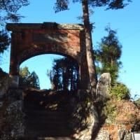 日露戦争「凱旋紀念門」の写真二枚「鹿児島県姶良市」「静岡県浜松市」