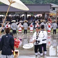 毎年行われる磯部の御田祭 (6月24日)