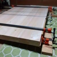 桧2枚重ねテーブル #1接ぎ(はぎ)