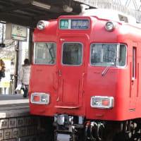 名鉄7100系、久しぶりの本線走行。