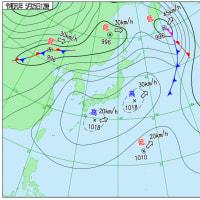 5月25日 アメダスと天気図。