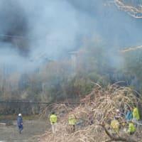 火災発生原町地内
