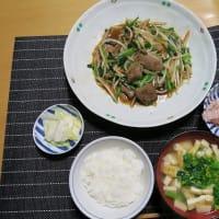 ニラレバー定食、炊屋食堂の名物menu・・・質素倹約一汁三菜、簡単安く旨く・・・昭和の味、