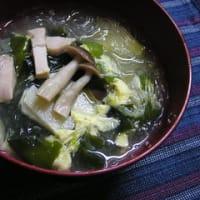 南蛮漬けと春雨スープとタケノコごはん