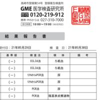 安全な精子提供のための性病検査結果(2021/5)