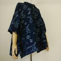 正絹・藍・縁起物絣織からブラウス
