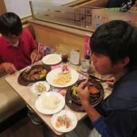 研修生 Seiya の卒業! ・・・と言うことでガストで夕食