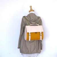 撥水帆布と皮の雫A4リュックバッグ♪