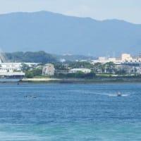 遠州灘防潮堤と今日の暑さ。