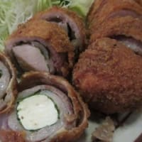 「「海幸(かいこう)」で晩酌。ロース豆腐巻揚定食、アジの野菜あんかけ定食、ゲソ唐揚げ