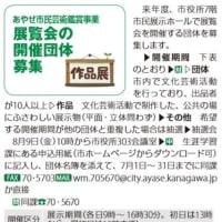 ◆市民の文化芸術活動の発表の場である「市民展示ホール」が日曜日は使えなくなる???