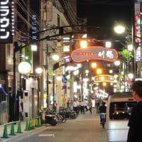 広島流川通りでお好み焼き