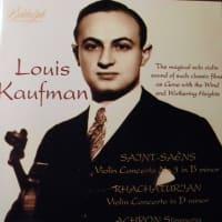 ルイス・カウフマンのSPレコヲド サンサーンスの協奏曲第三番