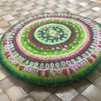 二十四節気小暑 日本の色で刺繍