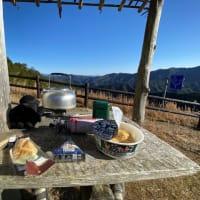 セローで冬の葛城山からの~野迫川方面