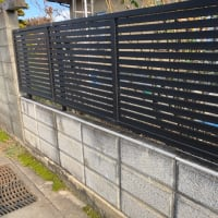 古いブロック塀の安全対策工事