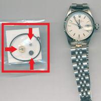 ロレックス(ROLEX) オイスターパーペチュアル デイト (Ref.6517)のオーバーホール・パッキン交換・巻き上げ車交換・切り換え車交換・香箱芯交換