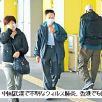 中国 武漢で原因不明の肺炎発生 current topics(450)