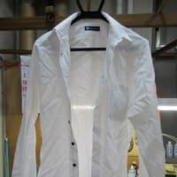 Yシャツ(花菱製) 筆ペンしみ しみ抜き 綿素材