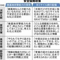 【総裁選】敵基地攻撃能力 河野太郎「かえって不安定化させる要因になる」 高市早苗「やられてもやり返さないのでは、どうしようもない。ミサイル配備は絶対だ」
