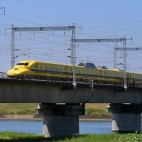 加古川橋梁 ドクターイエロー 上り(2020.8.19)
