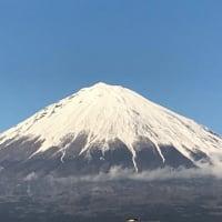 冬の富士山。