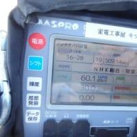 1月20日 藤沢市本鵠沼にて 地デジアンテナ工事