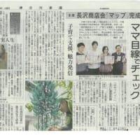 2017年3月18日神奈川新聞 多摩 長沢商店会「マップ」完成