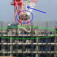 プラウドタワー亀戸クロス建設中、2021/1/25の様子