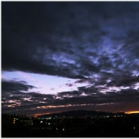 雨後の夕景