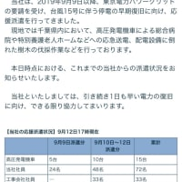 台風による爪痕…千葉県、大規模停電!早期復旧を心よりお祈り申し上げます。