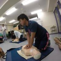 CPR(心肺蘇生法)の授業を実施!