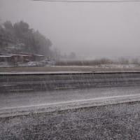 また雪が積もりそう。
