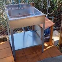 風呂おけから流し台に、1ヶ月近く掛かって施工完了