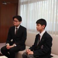 「平成30年度こども音楽コンクール」において文部科学大臣賞を受賞した西岡晟さんに箕面市長表彰!