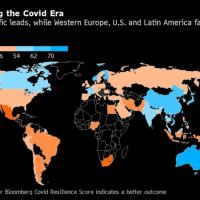 ワクチン接種開始も大変動なし-コロナ時代に最も安全な国ランキング 2021/01/25 19:05 Bloomberg